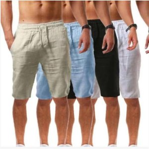 Men's Shorts Cotton And Linen Loose Casual Breathable Five-point Pants Sports Outdoor