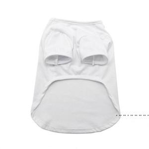 Sublimation Blank White DIY Vest Pet Dog Sleeveless Thin Vest Small Pet Heat Transfer Print Pet T-shirt EWC6358