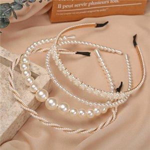 Simulation Vintage Bandeau de perle pour femme Filles Fleur Caisson Headwear Hoop Hoop Mujer Bande à cheveux Coréen Accessoires de cheveux Bijoux