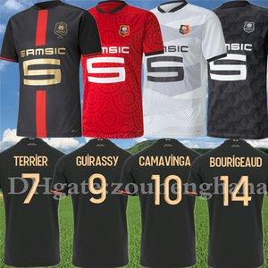 Stade Rennais 120th Anniversary Kit Camavinga Guirassy Doku Soccer Jersey 2020 21 Rennes Bourygeaud Hunou Nzonzi Terrier Football Compot