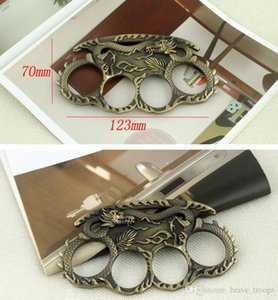 Men Women Outdoor Skull Dragon Boxing Finger Protective Gear Ring Tiger Brass Knuckle Duster Quality Is Very Good Han