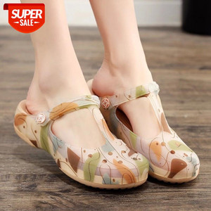 New Women Slippers Hole Shoes Lace Massage Ventilate Balance Light Shock Absorption Non-slip Beach Sandals Women #VH66