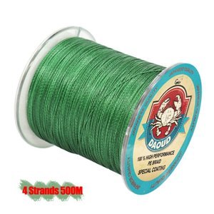 DAOUD 4 Strands 500M PE Braided Fishing Line 8 10 20 30 40 50 100LB Multifilament Fishing Braid Line