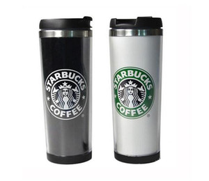 Starbucks Cups 14oz 420ml Stainless Steel Mug Flexible Cups Coffee Tumblers Mug Tea Travelling Mugs Tea Wine Cups