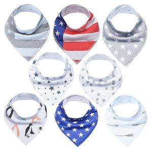 8Pcs Baby Bibs Newborn Baby Bandana Drool Bibs, Unisex Stylish Design Bandana Bibs for Boys & Girls 100% Organic Cotton Bibs