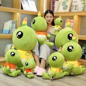 Single Horn Cute Pet Dinosaur Plush Toy for Baby Kids Playmate Cute Soft Stuffed Animal Dinosaur PlushToy Gift for Kids Birthday