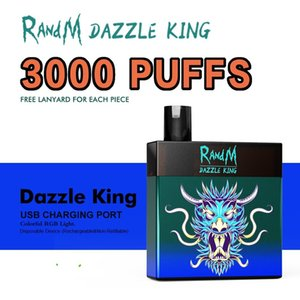 Fumot R and M factory original E Cigarettes Wholesale RandM Dazzle King 3000 puffs Disposable Vape
