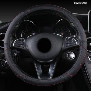 CUWEUSANG Leather Car Steering Wheel Cover For GMC Sierra Yukon Terrain Acadia Savana Envoy Canyon 1500