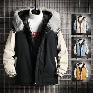 Ruppshch Men Harajuku Colorful Bubble Coat Winter Jacket 2021 Mens Streetwear Hip Hop Parka Black Clothes Puffer Jackets