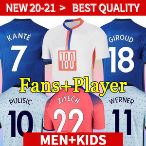 Thailand fourth 20 21 WERNER HAVERTZ CHILWELL ZIYECH Soccer Jerseys 2020 2021 PULISIC Football Shirt KANTE MOUNT 4th Men Kids set Kits tops