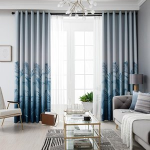 Curtain & Drapes Modern Solid Color Luxury Curtains For Bedroom Living Room Blackout Polyester Jacquard Insulated Panel Tulle