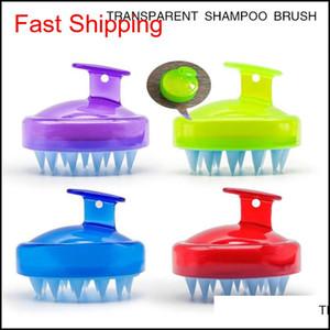 4Styles Silicone Shampoo Brush Shampoo Scalp Massage Brush Hair Washing Comb Body Bath Spa Slimming Massage Clean Brushes Scrubbers W7 2Lm3M