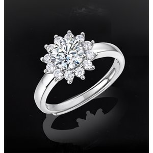 1ct Moissanite Women Ring Solitaire Rings 925 Silver