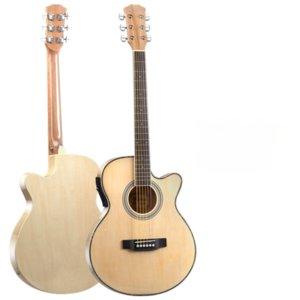 Accoustic Guitar Thin Body Professional Soprano Black Electric Bass Guitar Neck 21 Fret Violao Acustico Entertainment EH50G