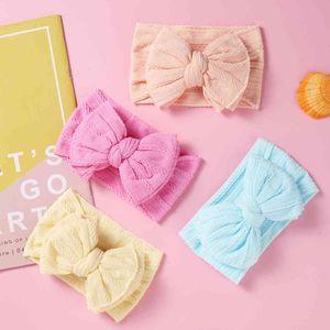 27PC lot 2020 Ribbed HeadbandCable Knit Wide Nylon Bow Headbands for Baby Girls Double Layer Bows Turban Head wraps