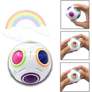 Rainbow Puzzle Ball Pack Matching Game Fidget Toy Stress Magic Brain Adults Boy