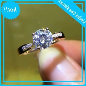 14K Rose Gold 4 Claws Moissanite Jewelry Engagement Anniversary Ring For Women 1ct 2ct 3ct Round Brilliant
