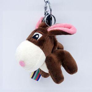 Lã burro de pelúcia chaveiros chaveiros homens homens saco de mulheres acessório pingente charme mini animal penhasco de brinquedo corda chaveiro presente