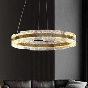Pendant Lamps Light Luxury Living Room Lamp Nordic Postmodern Simple Restaurant Bedroom Creative Personality Designer Glass Chandelier