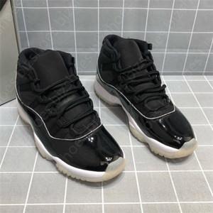 Sıcak 11s 25th Yıldönümü Basketbol Ayakkabı Gümüş Delikli 2.0 Erkek Ayakkabı Xi Jubilee Siyah Erkek Ayakkabı Jumpman 11 Spor Sneakers Eğitmenler
