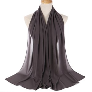 Top Quality Scarves Monochrome Chiffon bubble scarf headdress women's headdress shawl scarf wholesale