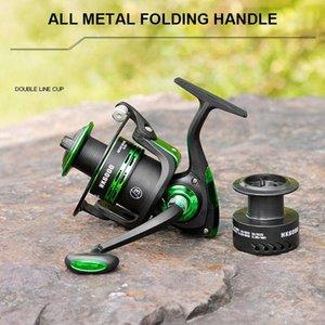 2021 High Speed Double Spool Spinning Angelrolle 5./5.2:1 Getriebeverhältnis Karpfen Angelrollen links / rechts Fischrolle