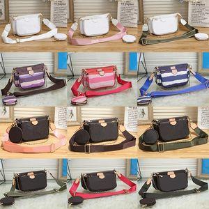 2021 New Luxury Fashion Handbags 멀티 Pochette Accessoires 지갑 여성들이 좋아하는 미니 3pcs 조합 크로스 바디 가방 어깨 가방