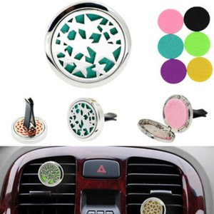 Aromatherapy Home Essential Oil Diffuser For Car Air Freshener Perfume Bottle Locket Clip with Washable Felt Pads EEB5606