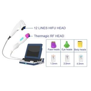 2 en 1 9D HIFU Thermagic Machine Serrer Face Face Aiguille de levage Thermagique HIFU RF Body Fractionnelle Minceur Machine