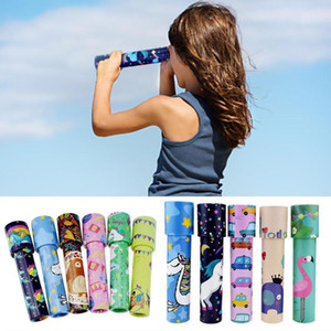 Classic Kaleidoscope Rotating Magic Colorful World Microscope For Children Science Toys Wholesale Gift Size S L