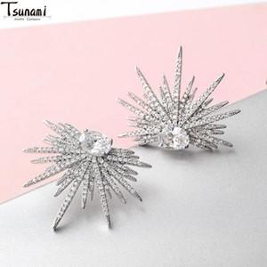 Libélula Moda Bonito Bling Micro-inlail Zircon Brincos de Cristal para Mulheres Temperamento Personalidade Presentes de Natal Jóias 2021