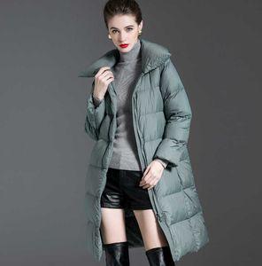 Women Down Jacket 2021 New Winter Womens Down Coat Padded Warm Thick Long Puffer Jacket Casual Parkas Woman Ultra Light Female