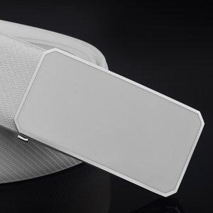 Letter Casual Belt for Men White Fashion Designer Belts Boy Leisure Cow Waist Strap Genuine Leather Metal Buckle Waistband