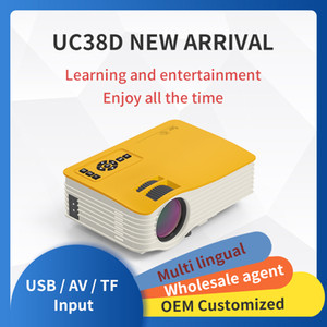 1080P HD LED Projector UC38D Wire Mirroring Projector for Phone Movie Video Online Class Outdoor Film Beamer Home Game Projetors