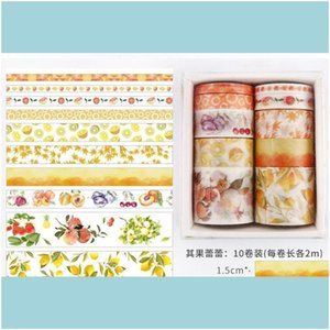 Tapes Packing Office School Business & Industrial 10 Pcs Box Fantasy Ocean Beautiful Flowers Plants Leaves Washi Diy Decoration For Scrapboo