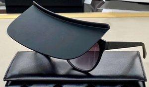 Ajuste sobre la envoltura alrededor de la moda Gafas de sol Mate Black Flip Up Sunglasses Mask Gafas de sol con caja
