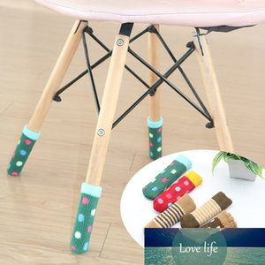4 unids silla calcetines de pierna protectores de planta de pierna antideslizante patas de manga silla de manga cubierta calcetines de punto de pie