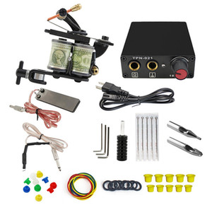 Complete Tattoo Basic Machine Kit Shader and Liner Starter Kit for Beginners with Power Supply US EU AU UK Plug