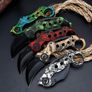 Folding Claw Knife With High Hardness Coating Process Multifunctional Knife For Survival InThe Field Outdoor Claw Knife