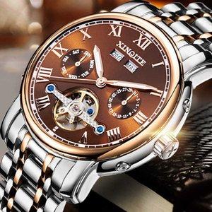 Xinqiqi Automatic Men's Mechanical Fine Steel Belt Waterproof Large Dial Sports Luminous Watch