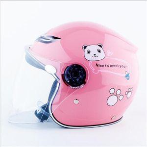 Мотоциклетные шлемы розовый цвет милый ребенок мотоцикл скутер дети дети детский шлем Safty Moto велосипедный велосипед