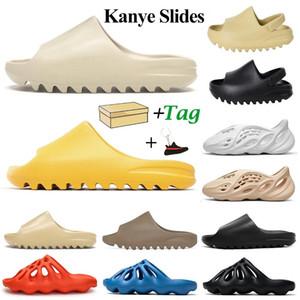 kanye diapositive per donna uomo pantofole per bambini Bone Earth Brown Desert Sand Resin platform house outdoor summer slipper with BOX
