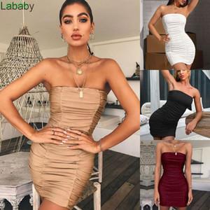 Spring Summer Clothes Designer New 2021 Skirt Women Slim Sexy Bra Nightclub Pleated Buttock Dress