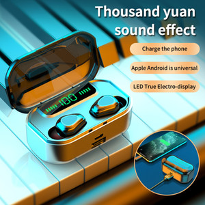 Wireless Headphones TWS Bluetooth Earphones 3500mAh Battery Sports Waterproof Headsets HiFi 9D Stereo Earbuds with Microphones