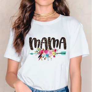 Women 2021 Mama Flower Arrow Casual Print T Shirt Clothes Tshirts Womens Mother Ladies Graphic Female Tee T-Shirt Clothing