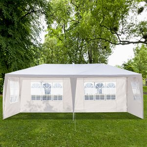 3 x 6m Shade Outdoor Garden Wedding Tents Pergolas Four Sides Portable Home Use Waterproof with Spiral Tubes White Tent For Picnic Awnings