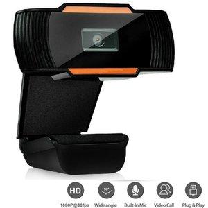 Камеры портативные веб-камеры HD 1080P Полная веб-камера с микрофоном USB Plug Cam для компьютерного компьютера Mac ноутбук на рабочем столе Mini