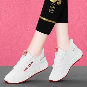 hot Fashion Women Sneakers Spring Summer Women Casual Shoes Female Air Mesh Lace Up Walking Platform Shoes 36-40
