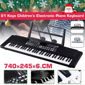 NEW 61 Key Music Electronic Keyboard Electric Digital Piano Organ with Microphone Music Stand Chirdren Gifts