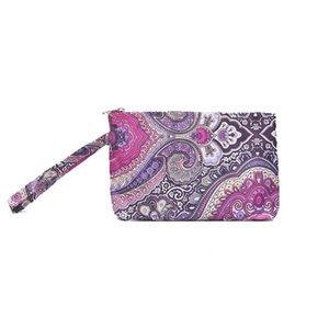 Fashion Printing Handbag Retro Ethnic Style Cosmetic Bag Outdoor Portable Mobile Phone Storage Bag Zipper Coin Purse ZZC5188